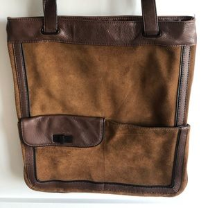 BCBG suede and leather bag